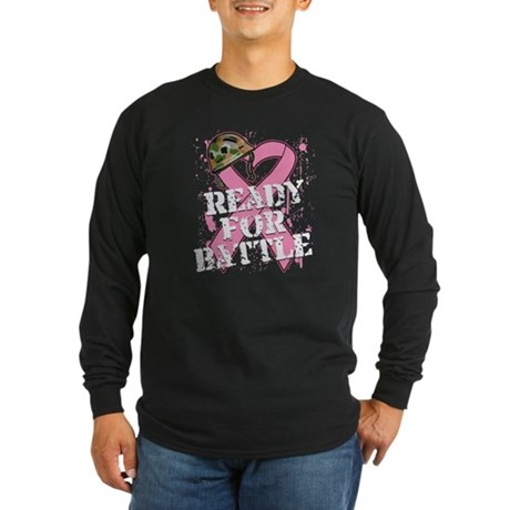 Ready For Battle BreastCancer Long Sleeve Dark T-S