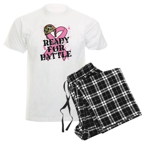 Ready For Battle BreastCancer Men's Light Pajamas