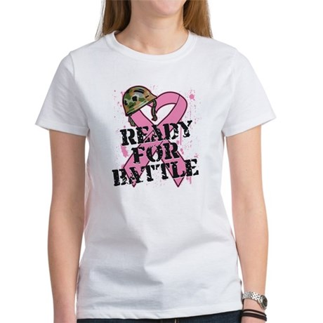 Ready For Battle BreastCancer Women's T-Shirt