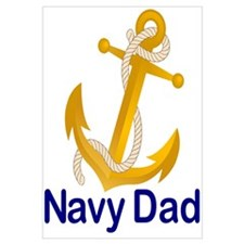 Cute Dad is in the navy Wall Art