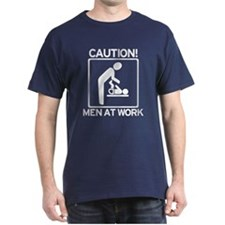 New Dad to Be - Caution - Men at Work T-Shirt