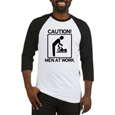 Caution: Men At Work - Diaper Baseball Jersey