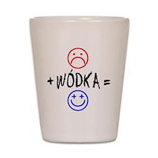 Plus Wodka Equals Happy Shot Glass