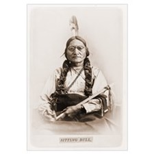 Sitting Bull Photo with Goggles Print