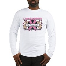 Personalize I Wear Pink Long Sleeve T-Shirt