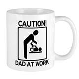Caution! Dad at Work! Baby Di Small Mugs