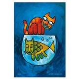 Cute Animal cartoons Wall Art