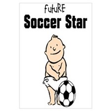 Future Soccer Star Framed Nursery Print