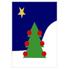 Funny Christmas tree Wall Art