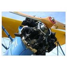 Stearman biplane close-up