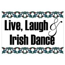 Funny Irish dancing Wall Art