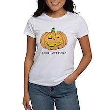 Halloween Pumpkin Custom Text Tee