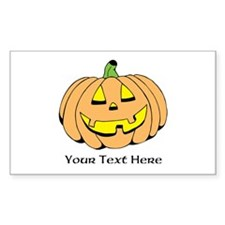 Halloween Pumpkin Custom Text Decal