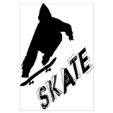 Skate Ollie Sillhouette