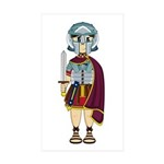Cute Roman Gladiator Sticker (50 Pk)
