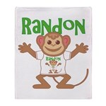 Little Monkey Randon Throw Blanket