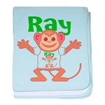 Little Monkey Ray baby blanket