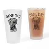 Black UC Dane Dad Drinking Glass