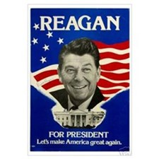 Cute Ronald reagan Wall Art