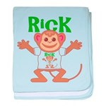 Little Monkey Rick baby blanket