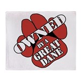 Great Dane OWNED Throw Blanket