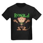 Little Monkey Ronald Kids Dark T-Shirt