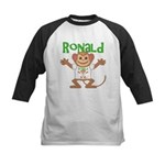 Little Monkey Ronald Kids Baseball Jersey