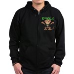 Little Monkey Ronald Zip Hoodie (dark)
