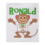 Little Monkey Ronald Throw Blanket