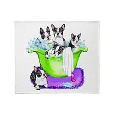 Boston Terrier TubFull Throw Blanket