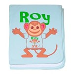 Little Monkey Roy baby blanket