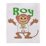 Little Monkey Roy Throw Blanket
