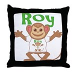 Little Monkey Roy Throw Pillow