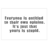 People and Stupid Opinions