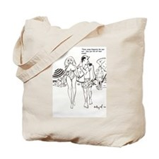 Bill Wenzel cartoon bathing beauty Tote Bag