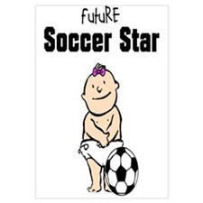 Future Soccer Star Girl Framed Nursery Print