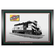 C&NW #1518 Railroad Art
