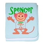 Little Monkey Spencer baby blanket