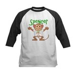 Little Monkey Spencer Kids Baseball Jersey