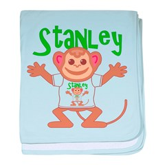 Little Monkey Stanley baby blanket