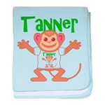 Little Monkey Tanner baby blanket