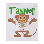 Little Monkey Tanner Throw Blanket