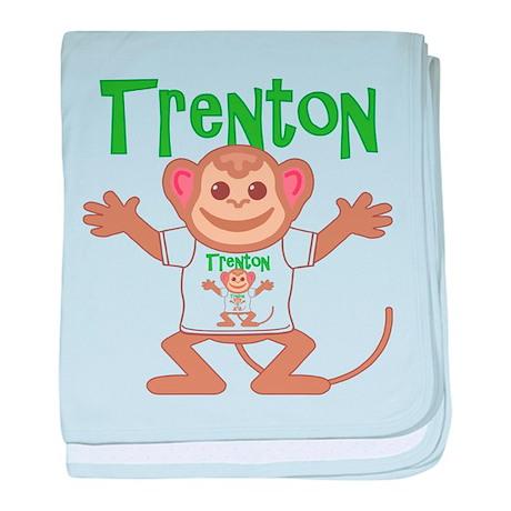 Little Monkey Trenton baby blanket