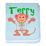 Little Monkey Terry baby blanket