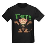 Little Monkey Terry Kids Dark T-Shirt