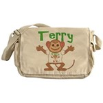 Little Monkey Terry Messenger Bag