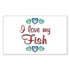 Love My Fish Decal