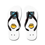 Cute What the duck camera comic Flip Flops