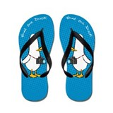 Funny What the duck camera comic Flip Flops