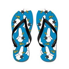 Funny What the duck photo photography comic humor Flip Flops